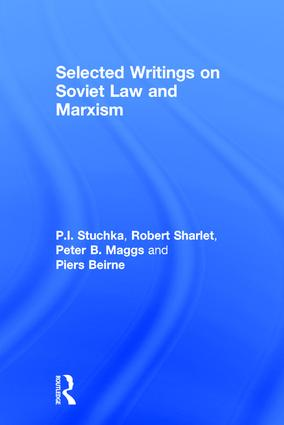 Selected Writings on Soviet Law and Marxism: 1st Edition (Hardback) book cover