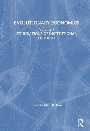 Evolutionary Economics: v. 1: 1st Edition (Hardback) book cover