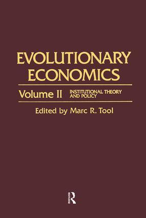 Evolutionary Economics book cover