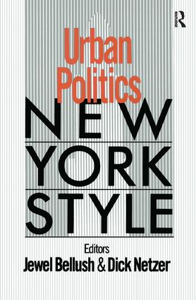Urban Politics: New York Style: New York Style, 1st Edition (Paperback) book cover