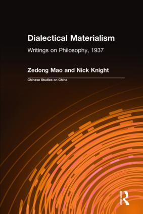 Dialectical Materialism: Writings on Philosophy, 1937: Writings on Philosophy, 1937, 1st Edition (Hardback) book cover