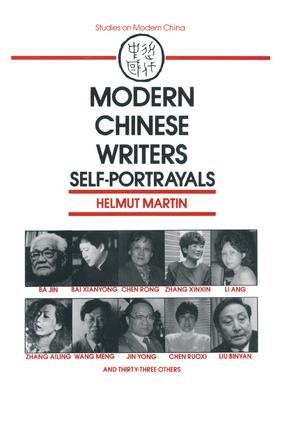 Modern Chinese Writers: Self-portrayals