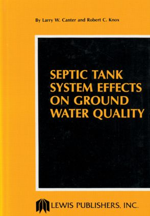 Septic Tank System Effects on Ground Water Quality: 1st Edition (Hardback) book cover