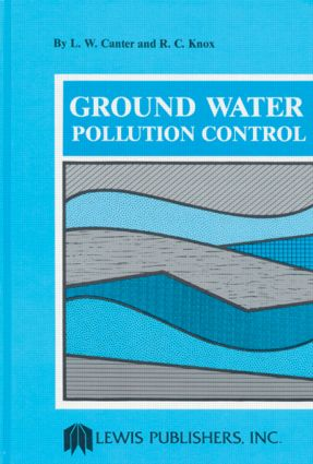Ground Water Pollution Control: 1st Edition (Hardback) book cover
