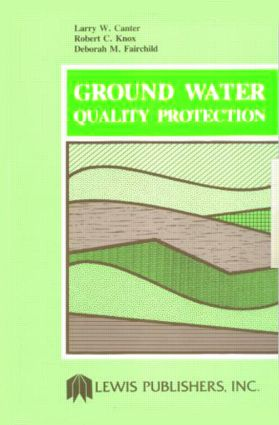Ground Water Quality Protection: 1st Edition (Hardback) book cover