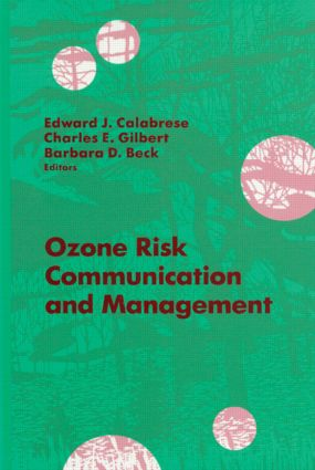 Ozone Risk Communication and Management: 1st Edition (Hardback) book cover