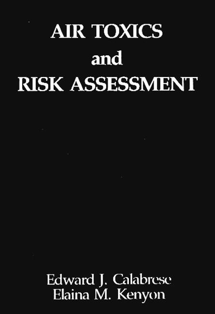 Air Toxics and Risk Assessment (Hardback) book cover
