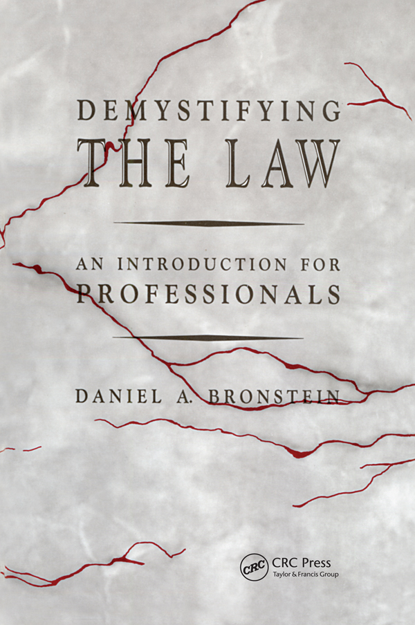 Demystifying the Law: An Introduction for Professionals, 1st Edition (Hardback) book cover