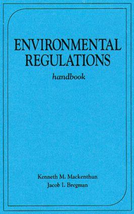 Environmental Regulations Handbook: 1st Edition (Hardback) book cover