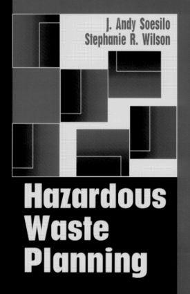 Hazardous Waste Planning: 1st Edition (Hardback) book cover