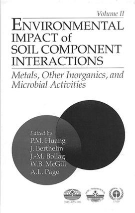 Environmental Impacts of Soil Component Interactions: Metals, Other Inorganics, and Microbial Activities, Volume II, 1st Edition (Hardback) book cover