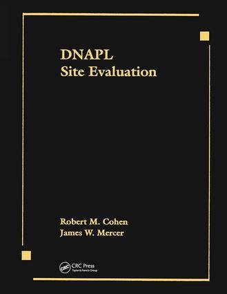 DNAPL Site Evaluation: 1st Edition (Hardback) book cover