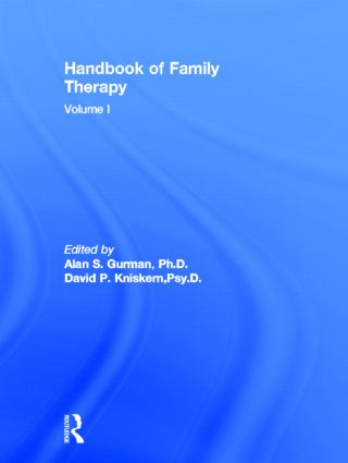 Handbook Of Family Therapy (Hardback) book cover