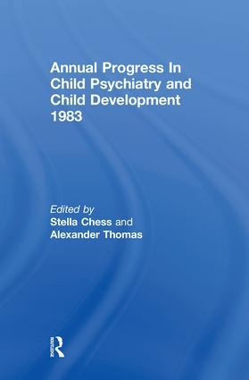 1983 Annual Progress In Child Psychiatry (Hardback) book cover