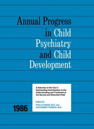 1986 Annual Progress In Child Psychiatry: 1st Edition (Hardback) book cover