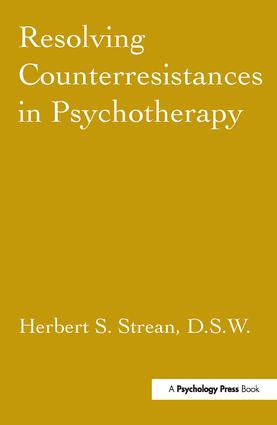 Resolving Counterresistances In Psychotherapy (Hardback) book cover