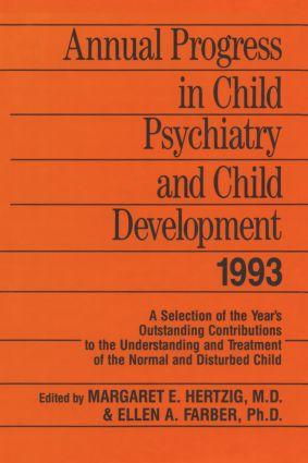 Annual Progress in Child Psychiatry and Child Development 1993 (Hardback) book cover