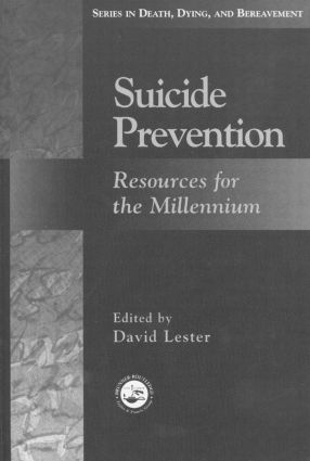 Suicide Prevention: Resources for the Millennium (Hardback) book cover