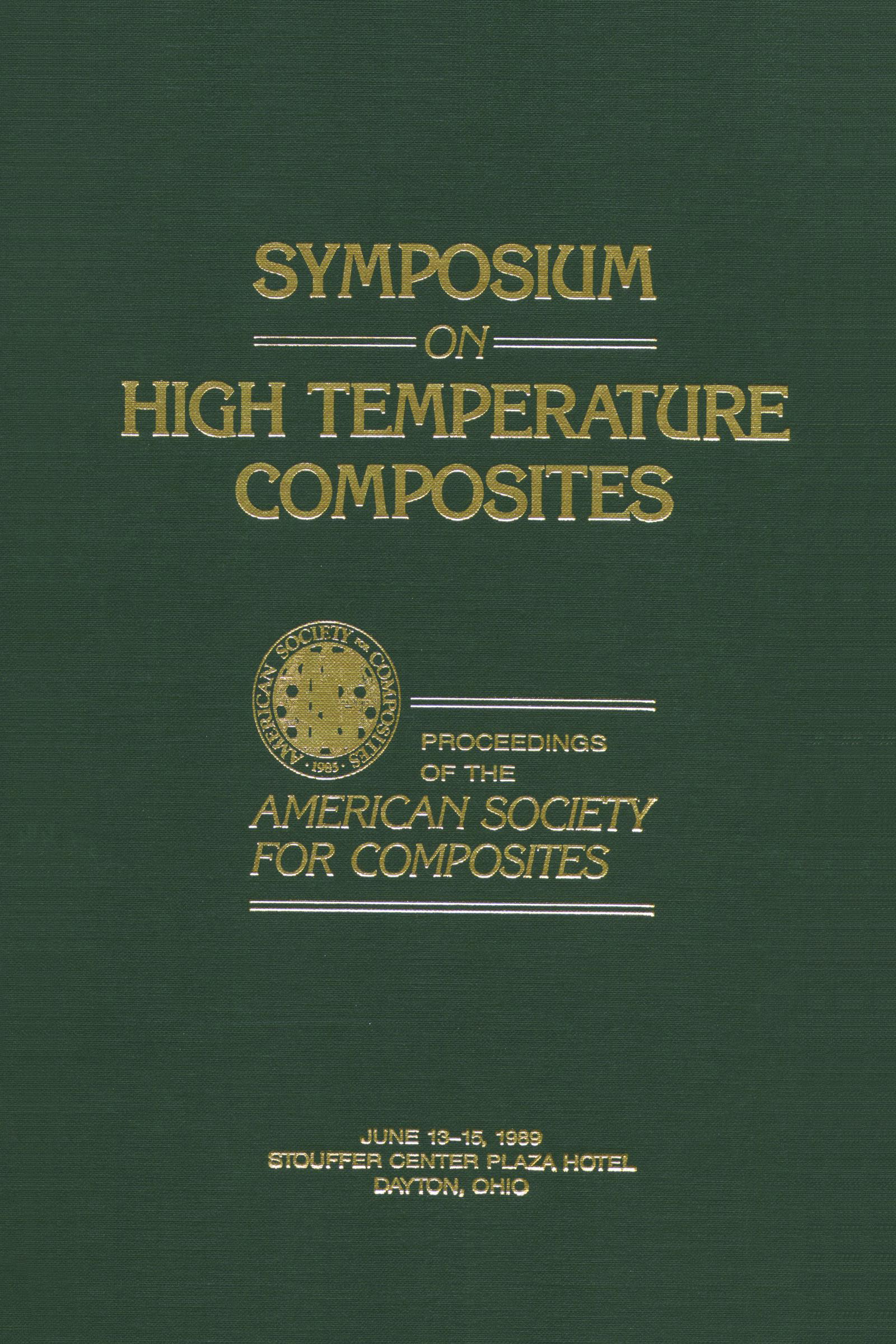 Symposium on High Temperature Composites: 1st Edition (Hardback) book cover