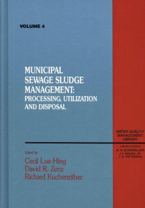 Municipal Sewage Sludge: Management, Processing and Disposal, Volume IV, 1st Edition (Hardback) book cover