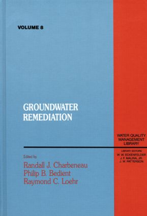 Groundwater Remediation, Volume VIII: 1st Edition (Hardback) book cover