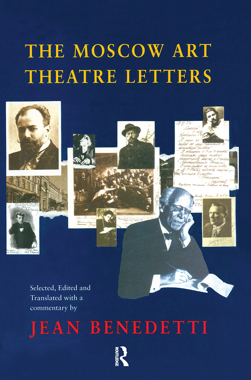 The Moscow Art Theatre Letters: 1st Edition (Hardback) book cover