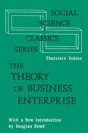 The Theory of Business Enterprise: 1st Edition (Paperback) book cover