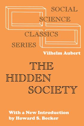 The Hidden Society: 1st Edition (Paperback) book cover