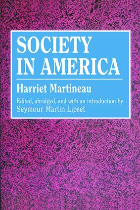 Society in America: 1st Edition (Paperback) book cover