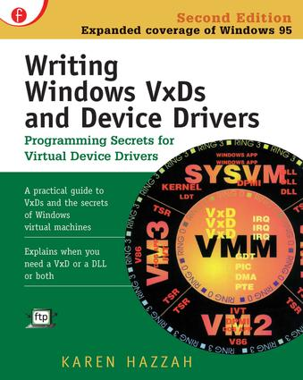 Writing Windows VxDs and Device Drivers: 2nd Edition (Paperback) book cover