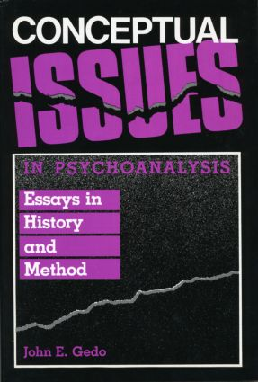 Conceptual Issues in Psychoanalysis: Essays in History and Method (Hardback) book cover