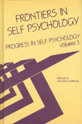 Progress in Self Psychology, V. 3: Frontiers in Self Psychology (Hardback) book cover
