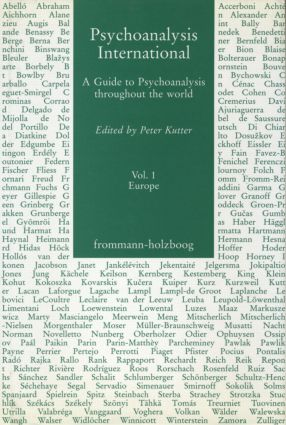 Psychoanalysis International, V.1: A Guide to Psychoanalysis Throughout the World, 1st Edition (Hardback) book cover