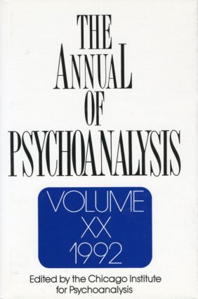 The Annual of Psychoanalysis, V. 20: 1st Edition (Hardback) book cover