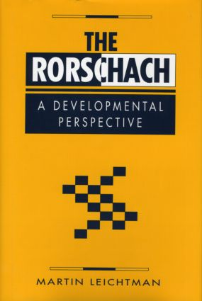 The Rorschach: A Developmental Perspective (Hardback) book cover