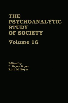 The Psychoanalytic Study of Society, V. 16: Essays in Honor of A. Irving Hallowell (Hardback) book cover
