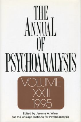 The Annual of Psychoanalysis, V. 23 (Hardback) book cover