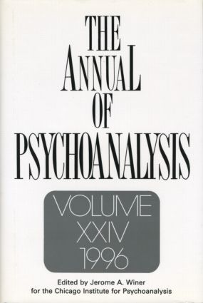 The Annual of Psychoanalysis, V. 24: 1st Edition (Hardback) book cover