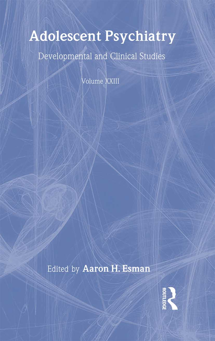 Adolescent Psychiatry, V. 23: Annals of the American Society for Adolescent Psychiatry (Hardback) book cover