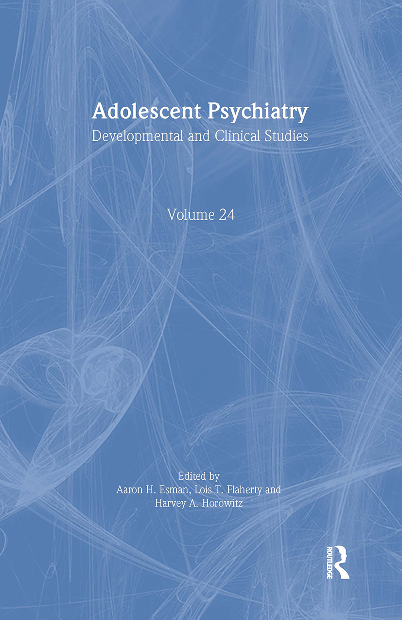 Adolescent Psychiatry, V. 24: Annals of the American Society for Adolescent Psychiatry (Hardback) book cover