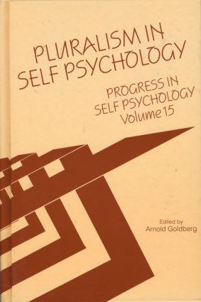 Progress in Self Psychology, V. 15: Pluralism in Self Psychology (Hardback) book cover