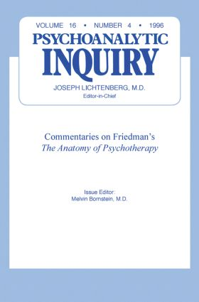 Commentaries: Psychoanalytic Inquiry, 16.4, 1st Edition (Hardback) book cover