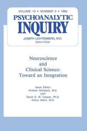 Neuroscience: Psychoanalytic Inquiry, 12.3 (Hardback) book cover