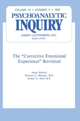 Corrective: Psychoanalytic Inquiry, 10.3, 1st Edition (Hardback) book cover