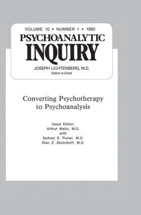 Converting Psychoanalysis: Psychoanalytic Inquiry, 10.1, 1st Edition (Hardback) book cover
