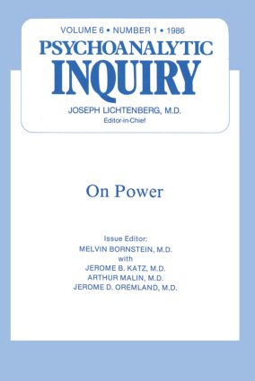 On Power: Psychoanalytic Inquiry, 6.1, 1st Edition (Hardback) book cover