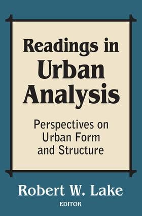 Readings in Urban Analysis: Perspectives on Urban Form and Structure, 1st Edition (Paperback) book cover