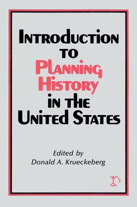 Introduction to Planning History in the United States: 1st Edition (Paperback) book cover