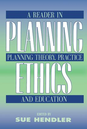 Planning Ethics: 1st Edition (Paperback) book cover