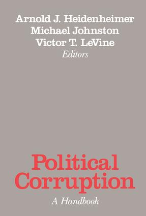 Political Corruption: A Handbook, 2nd Edition (Paperback) book cover